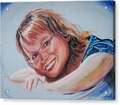 Acrylic Print featuring the pastel Kelly by Peter Suhocke