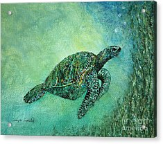 Kelp Forest Sea Turtle Acrylic Print