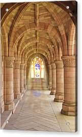 Kelso Abbey Stained Glass Acrylic Print