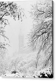 Kelvingrove Park In The Snow, 1955 Acrylic Print