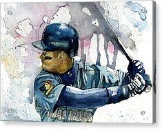 Ken Griffey Jr. Acrylic Print by Michael  Pattison