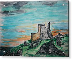 Kenbane Castle Acrylic Print by Paul Morgan