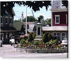 Kennebunkport Circle Acrylic Print by Dusty Reed