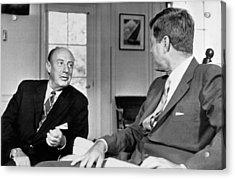 Kennedy And Adlai Stevenson Acrylic Print
