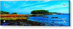 Acrylic Print featuring the photograph Kennepunkport Vaughn Island  by Tom Jelen
