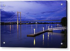 Acrylic Print featuring the photograph Kennewick Bridge 2 by Sonya Lang