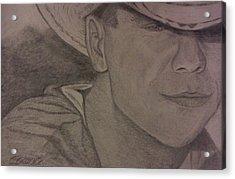 Kenny Chesney Acrylic Print by Christy Saunders Church