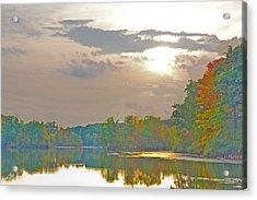 Kensington Autumn Sunset Acrylic Print