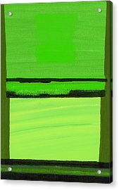 Kensington Gardens Series Green On Green Oil On Canvas Acrylic Print by Izabella Godlewska de Aranda