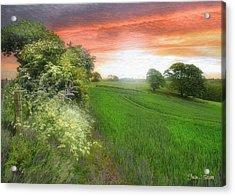 Kent Between Storms Acrylic Print by Fran J Scott