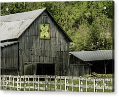 Kentucky Barn Quilt - 3 Acrylic Print by Mary Carol Story