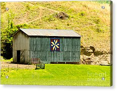 Kentucky Barn Quilt - Americana Star Acrylic Print by Mary Carol Story