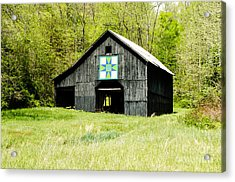 Kentucky Barn Quilt - Darting Minnows Acrylic Print by Mary Carol Story