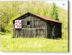 Kentucky Barn Quilt - Flying Geese Acrylic Print by Mary Carol Story