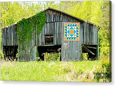 Kentucky Barn Quilt - Thunder And Lightening Acrylic Print by Mary Carol Story