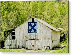 Kentucky Barn Quilt - Windmill Acrylic Print by Mary Carol Story