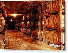 Kentucky Bourbon Aging In Barrels Acrylic Print by James Kirkikis