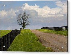 Kentucky Horse Farm Road Acrylic Print
