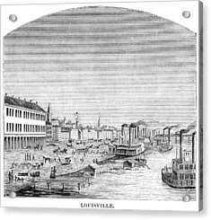 Acrylic Print featuring the painting Kentucky Louisville, 1870 by Granger