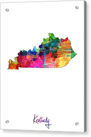 Kentucky Map Acrylic Print