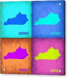 Kentucky Pop Art Map 1 Acrylic Print by Naxart Studio