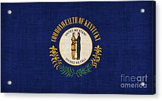 Kentucky State Flag Acrylic Print by Pixel Chimp