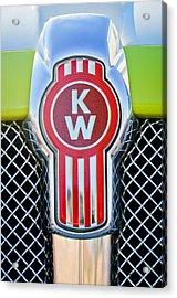 Kenworth Truck Emblem -1196c Acrylic Print by Jill Reger