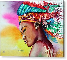 Kenya Acrylic Print by Maria Barry