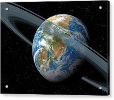 Kepler-62f Acrylic Print by Detlev Van Ravenswaay