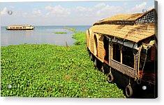 Kerala Houseboats On Kumarakom Lake Acrylic Print