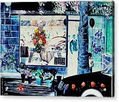 Keren Kayemet Flowers Acrylic Print by Nekoda  Singer