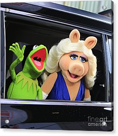 Kermit Takes Miss Piggy To The Movies Acrylic Print