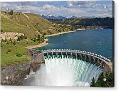 Kerr Dam Releasing Water Acrylic Print