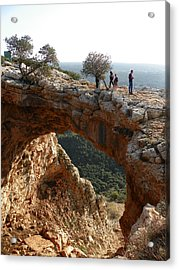 Keshet Cave Acrylic Print by Noreen HaCohen