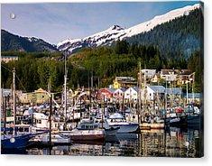 Ketchikan Alaska Dock Acrylic Print by Michael J Bauer