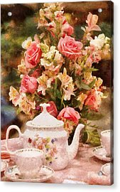 Kettle - More Tea Milady  Acrylic Print by Mike Savad