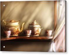 Kettle - My Grandmother's Chinese Tea Set  Acrylic Print by Mike Savad
