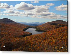 Kettle Pond At Owls Head In Autumn Acrylic Print by Jetson Nguyen