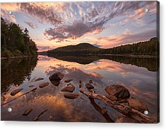 Kettle Pond Sunset Acrylic Print