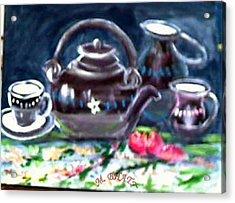 Kettle Set Acrylic Print by M bhatt