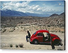 Kevin And The Red Bug Acrylic Print