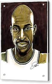 Kevin Garnett Portrait Acrylic Print