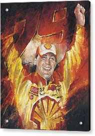 Kevin Harvick Acrylic Print by Christiaan Bekker