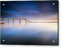 Key Bridge 2014 Acrylic Print by Edward Kreis