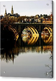 Key Bridge And Georgetown  Acrylic Print