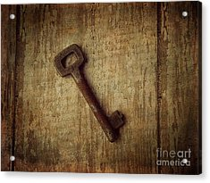 Key To My Secret Acrylic Print by Lorraine Heath