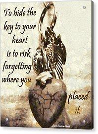 Key To Your Heart Acrylic Print by Lorri Crossno