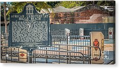 Key West African Cemetery 7 - Key West - Panoramic - Hdr Style Acrylic Print by Ian Monk