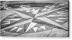 Key West African Cemetery - Key West - Black And White Acrylic Print by Ian Monk