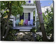 Key West Chairs Acrylic Print by Paul Plaine